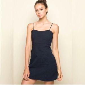 Brandy Melville Karla Dress Navy Blue One Size